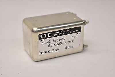 Tte Band Reject Filter B83 600600 Ohms 60hz