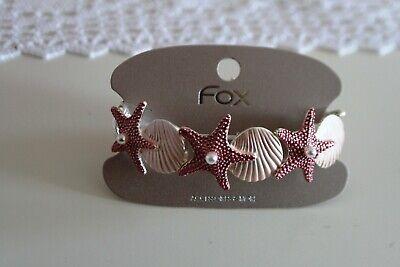 Armband Armreif Damen  Edelstahl dehnbar Muschel Seestern rosa Perle (Armreif Perle Armband)