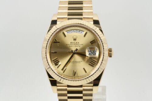 Rolex Day-date 40 Model 228238 Champagne Roman Dial -unworn-