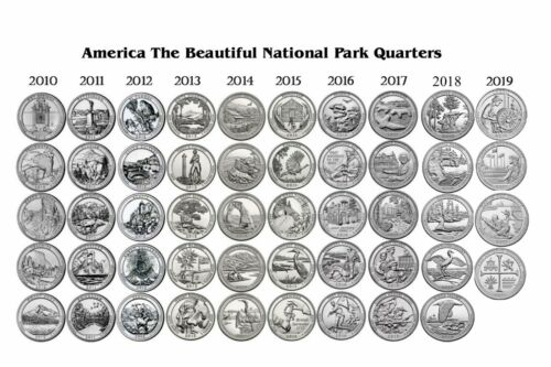 2010-2019  NATIONAL PARK 49 COIN QUARTER SET Denver Mint - ALL NICE UNC