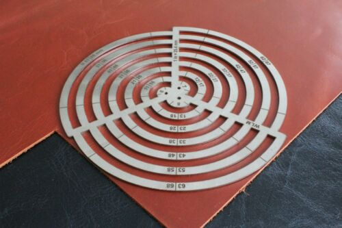 Steel Multi Circle Ruler Cutting Corners Leather Craft Tool Circles Stencil
