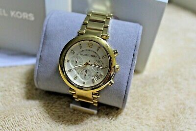 Michael Kors Authentic Parker Chronograph MK5701 Ladies NWT 39mm Watch MSSR $250