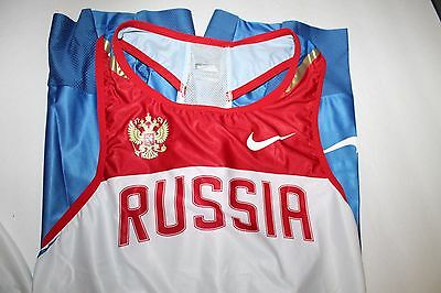 7dc4104f NIKE RUSSIA National Team Track Speedsuit Olympic Singlet, Size Large фото
