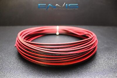 Used, 18 GAUGE 200FT RED BLACK ZIP WIRE AWG CABLE POWER GROUND STRANDED COPPER CLAD EE for sale  Shipping to Canada