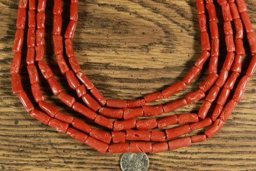 Mediterranean Red Coral Beads NATURAL Larger bead Strands