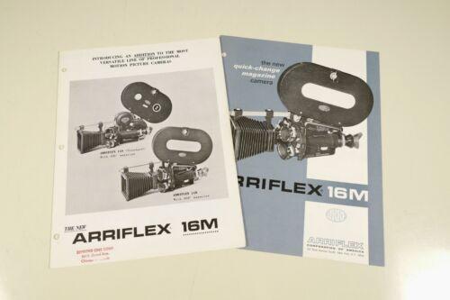 2 brochures Arriflex 16M ARRI camera 16mm 16 mm