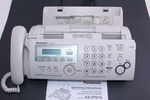 Panasonic KX-FP215 Plain Paper Fax Machine Copier Digital Answering System