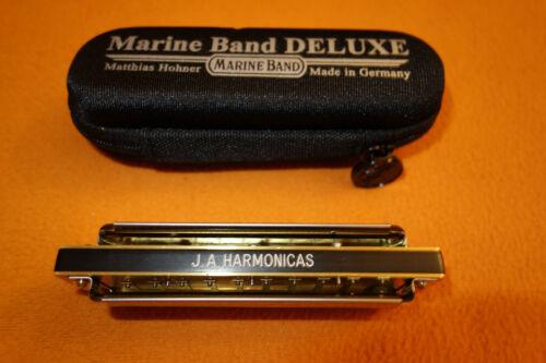 New MARINE BAND DELUXE HARMONICA w/Joel Anderson Basic Reedwork & Sjoeberg Comb