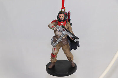 """Disney Star Wars Rouge One Baze Malbus Holiday Ornament Figure 4"""" New"""