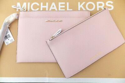 Michael Kors Leather Jet Set Travel XL Pop Out Clutch Wristlet BNWT Blossom