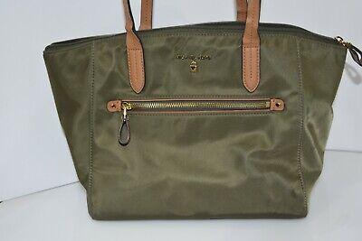 Michael Kors Polly Top Zip Nylon Tote Olive Handbag 0560