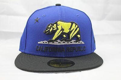 6057e007600 NEW ERA 59FIFTY FITTED HAT CAP. CALIFORNIA REPUBLIC