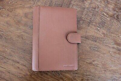 Hartmann Luggage Saddle Leather Agenda Brown 6 Ring Planner Wallet Portfolio