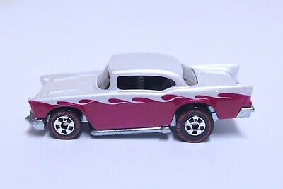 HOT WHEELS '57 CHEVY BEL AIR VERY NICE SILVER ROSE THE HOT ONES CHASE *CUSTOM*