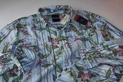 Tommy Bahama Shirt Jungle Mist Banff Blue T316431 Ls Medium  M