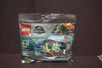 "Lego Jurassic World 30382 Polybag Baby Velociraptor Playpen 48 Pieces ""New"""