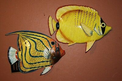 2 Seafood Restaurant Fish Decor Tropical Fish Wall Hangings 109137
