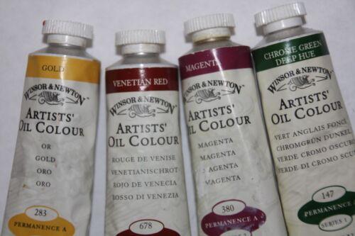 4 Winsor & Newton Oil Paint