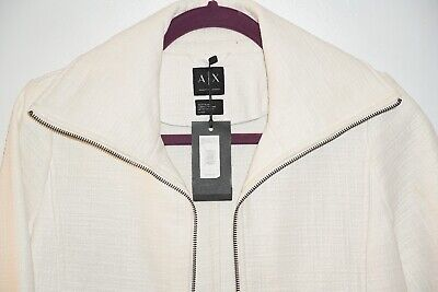 White Womans ARMANI LEATHER JACKET, size SMALL, reatil $200, new with tags