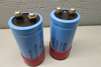 Mallory Cgs651t450v4c Capacitor Lot Of 2