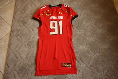 2aa0097f798 Keith Bowers 2012 Maryland Terrapins game used jersey Under Armour size 46