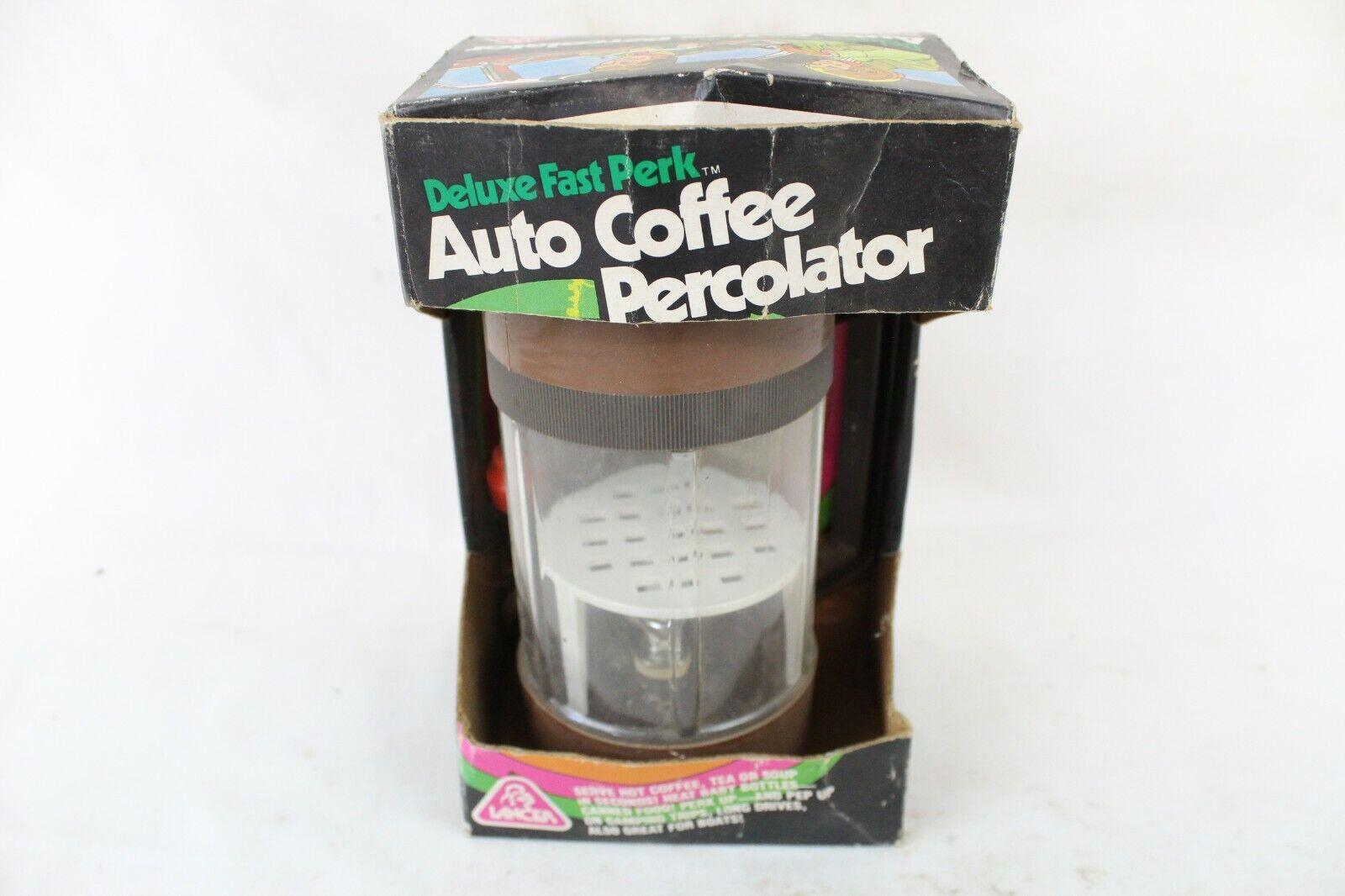 NIB Vintage Lancer Travel Auto Coffee Percolator Cigarette L