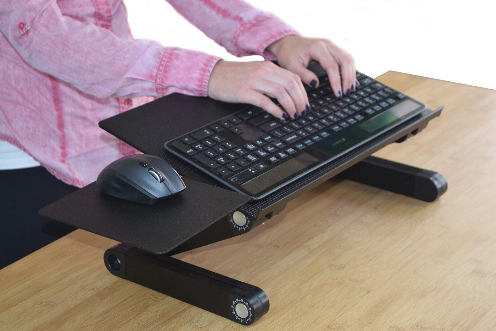 Uncaged Ergonomics  WorkEZ Keyboard Tray Stand Up Adjustable