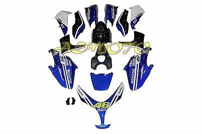 Fairing Kit Panel Bodywork for Yamaha TMAX 500 2008 2009 2010 2011 Blue Black