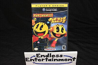 Pac-Man World 2 / Pac-Man Vs. Nintendo GameCube Complete CIB Authentic Tested
