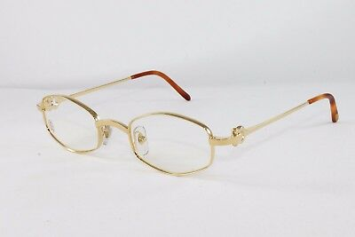 Cartier Octagon Gold Eyeglasses T8100427 Frames Authentic France New (Cartier Glasses Gold Frame)