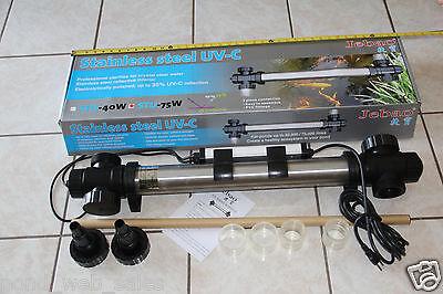 - 75 WATT STAINLESS STEEL UV CLARIFIER 75W FOR KOI FISH POND FOUNTAIN
