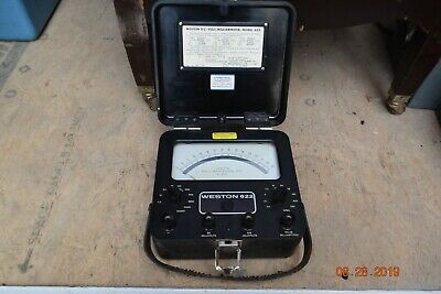 Vintage Western Electric-ks 8039 Weston Volts Milliammeter Dc Model 622 2