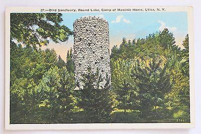 BIRD SANCTUARY, ROUND LAKE, CAMP OF MASONIC HOME, UTICA, N.Y.