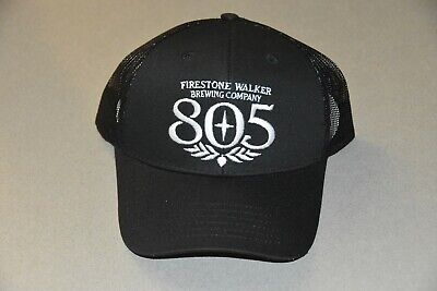 Embroidered 805 Firestone Walker Brewing Company Trucker Hat Mesh Snapback Cap