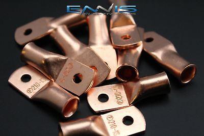 2 Gauge Copper 10 Ring 5 Pk Crimp Terminal Connector Awg Ga Car Eye Cur210