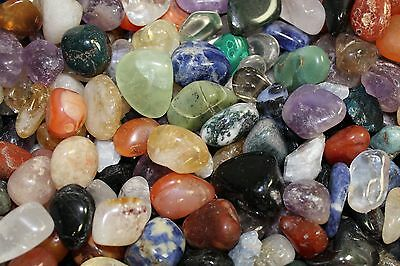 Assorted Mixed Tumbled Stones 1 lb Wholesale Bulk Lot MEDIUM Chakra Reiki 16 - 1 Lb Tumbled Stones