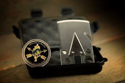 Zombie Survival Kit with Credit Card Axe Special Forces Coin & Space Blanket