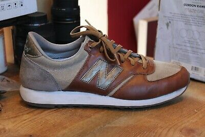 *UK 10/44.5* New Balance M373PGY Brown Leather Men's Trainers