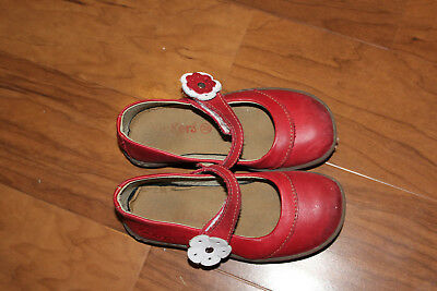 Kickers Red Petal  Girls Infant Kids Leather Shoes Sz -
