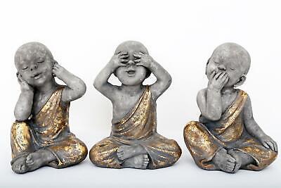Bebé Budas Figurita - Conjunto De 3 - Ver No Evil Escucho...