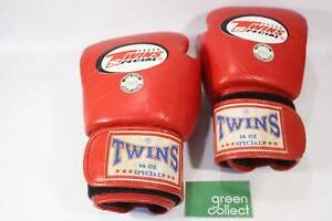 Twins 14oz Special Red Boxing Gloves - Genuine Leather (1096) Braybrook Maribyrnong Area Preview