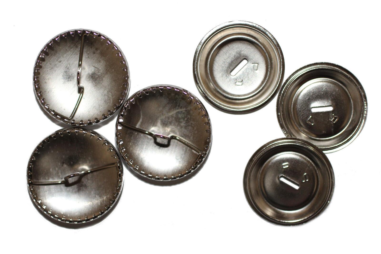 Überziehbare Knöpfe, 29mm - 10 Stück, Knopfrohlinge aus Metall