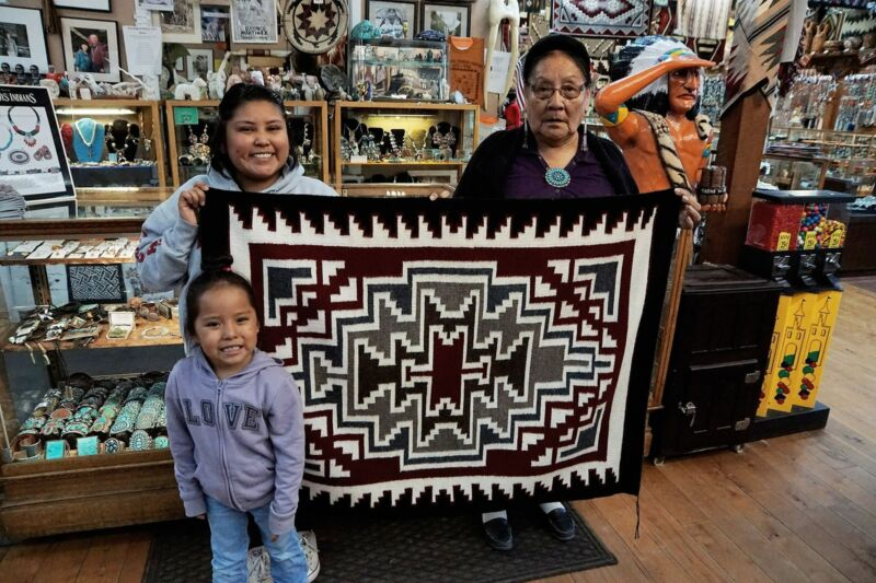 "Anna Gray, Klagetoh, Rug, Navajo Handwoven, 47"" x 35"""