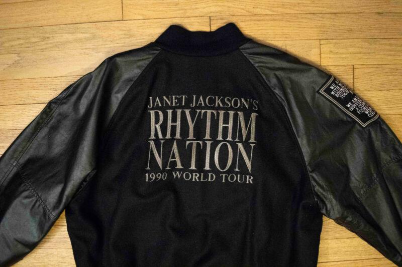 ORIGINAL Rhythm Nation Letterman Jacket XL Janet Jackson