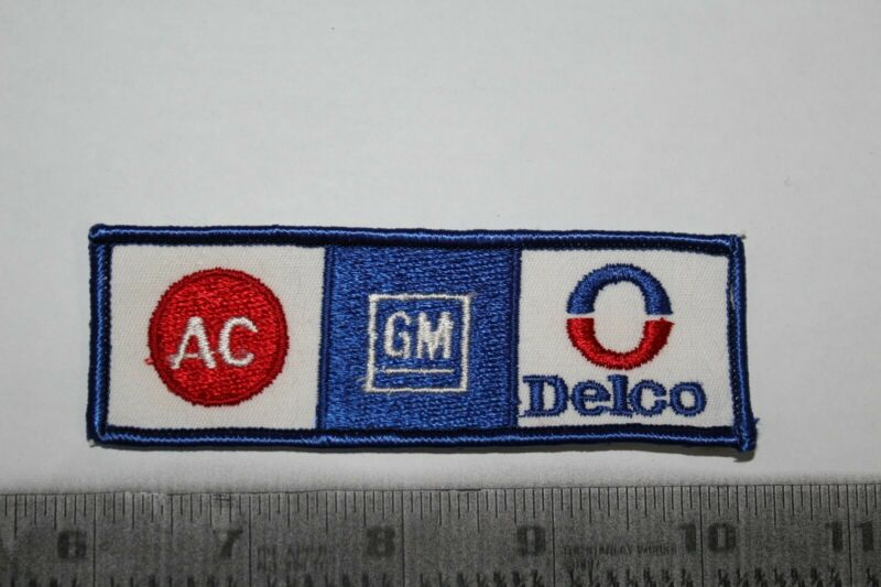 AC GM Delco Iron-On New Patch Red White Blue-Nice!