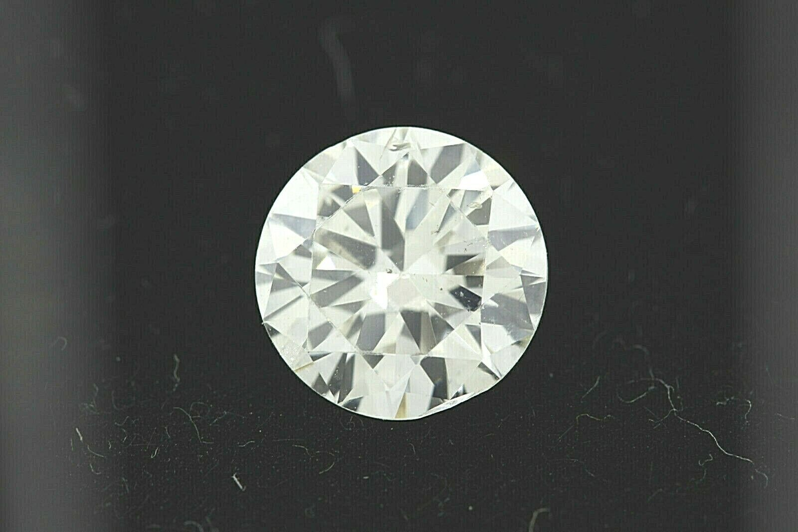 GIA 2.03ct Round Brilliant Loose Diamond J color, SI2 clarity 8.12-8.30 x 4.79mm