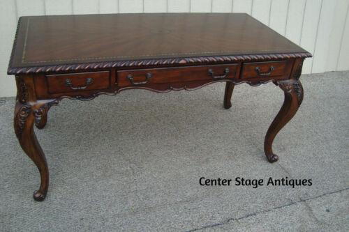 61048   Inlaid Mahogany Executive Desk