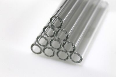 Lot Of 10 4 Glass Blowing Tubes 12.5mm Od 7.5mm Id Tubing 2mm Thickness