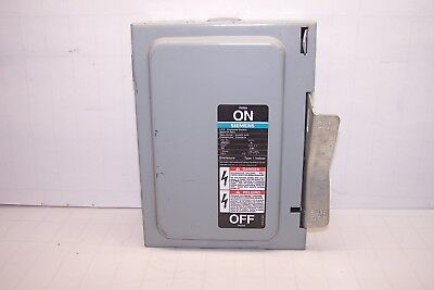 Siemens Ite Fusible Disconnect Safety Switch Jn321 30 Amp 240 Vac 1 Phase