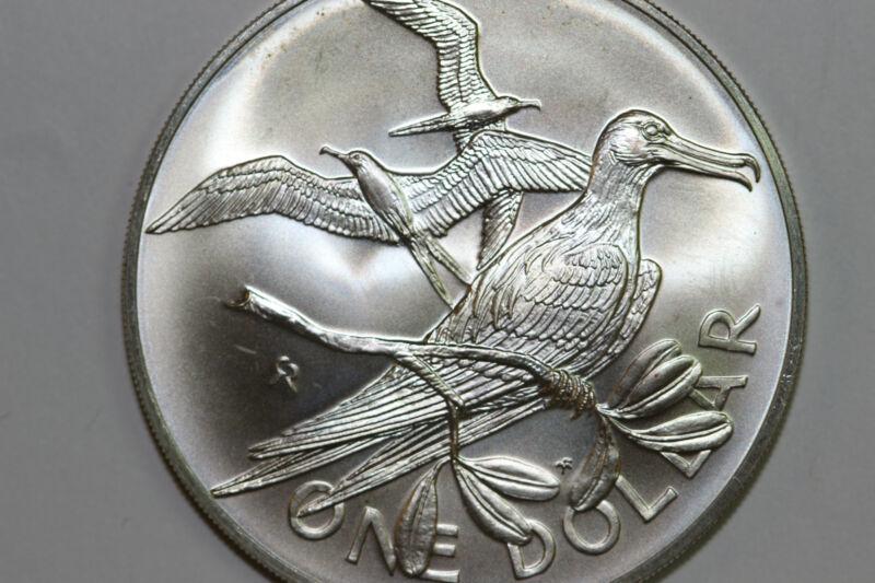 1973 British Virgin Islands One Dollar Coin Grades BU (NUM4711)